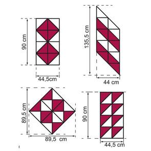 Triángulos Autoadhesivos decorativos