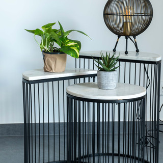Table Appoint Metal Marbre
