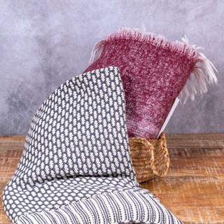 Plaid Coton Tricoté - Viscose