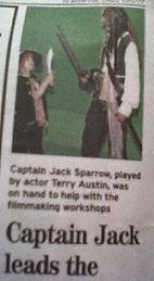 JACK SPARROW LOOKALIKE NEWSPAPER