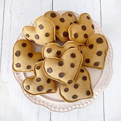 Chocolate Chip Heart Cookie Toy