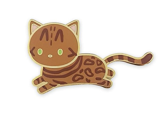 Bengal Cat Enamel Pin