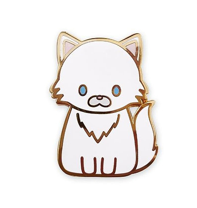 White Persian Cat Enamel Pin