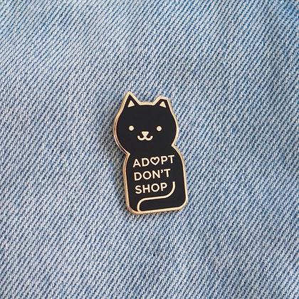 Adopt Don't Shop Enamel Pin