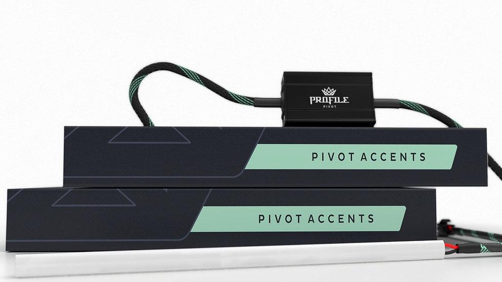 LED DRL Strips: Profile Pivot /w driver (pair)