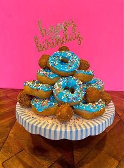 The Birthday Donut Tower
