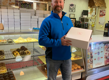 Thanks Mike for being our first Donut Star Bakery customer!