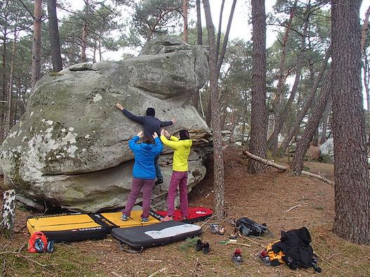 Boulderreise Fontainebleau | Klettertraining am Fels Fontainebleau