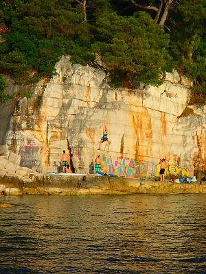 Klettern in Rovinj / Kroatien