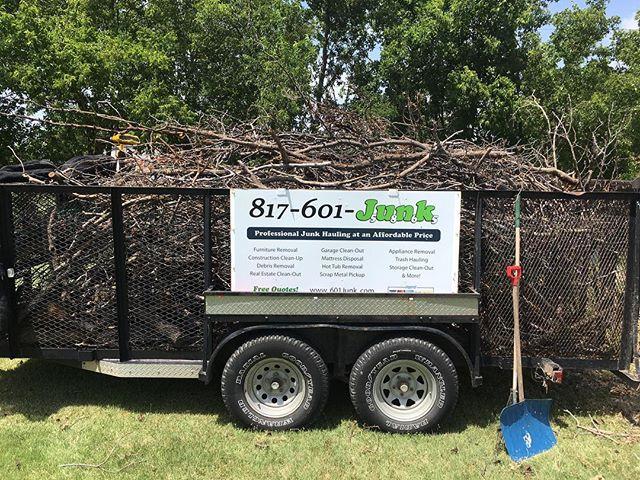 We do brush removals! Free Estimates #junk #dallas #fortworth #texas