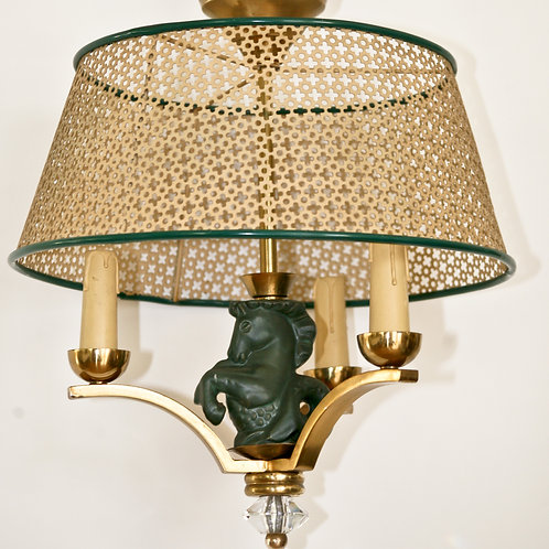 French mid century Asselbur George Jouve chandelier with Mathieu Mategot