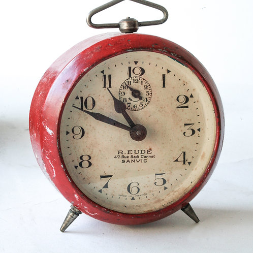 French red art deco alarm Eude Sanvic