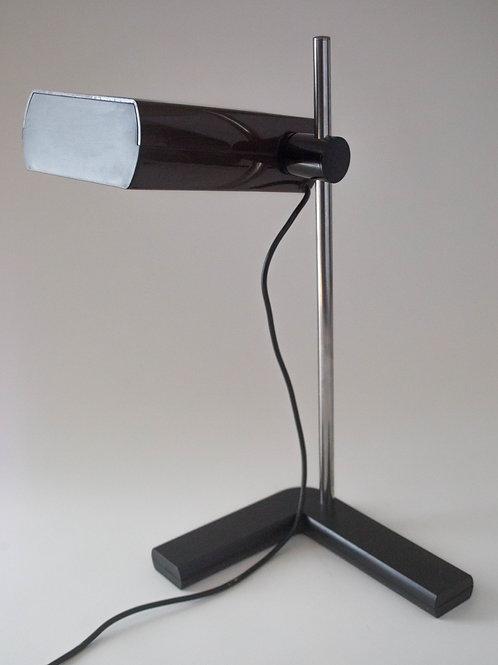 1970's FRENCH DESIGN - Talopp Vintage Office Desk Lamp brown tabaco