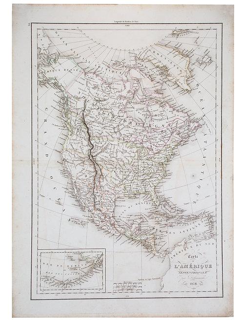 Antique Fren Delamarche Vaugondy Northern America Amerique septentrionale map 18