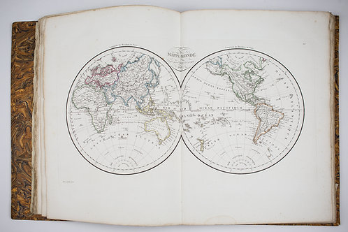 Pierre LAPIE Universal Geography Atlas Ancient and Modern Paris engraving 1812