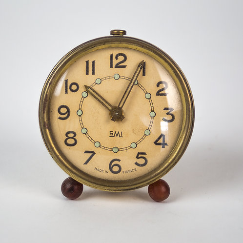 Small  Art Deco alarm Clock SMI France