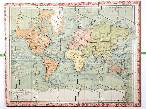 Large Saussine Atlas puzzle set, late 19th Century