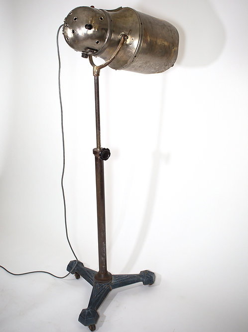 FRENCH ART DECO PROFESSIONAL HAIR DRYER REFURBISHED AS FLOOR LAMP SPOT