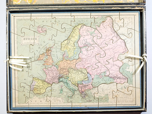 French jigsaw puzzle by Auguste Logerot full set 19th Century Fremin geographer