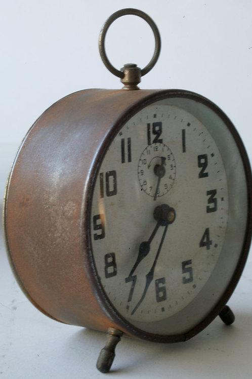 French art deco metal alarm clock 2