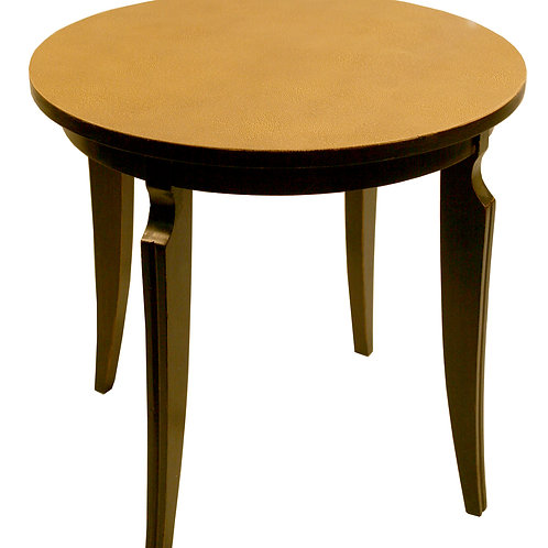 FRENCH ART DECO TABLE SHAGREEN TOP  GROULT STYLE NEO CLASSIC