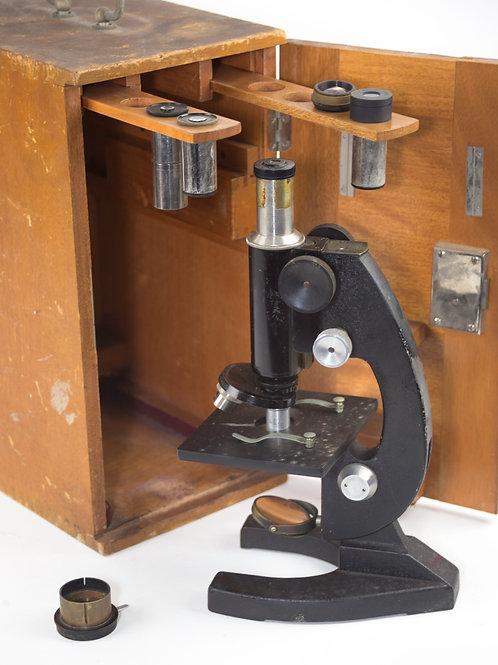 Antique French microscope NACHET à Paris 1900