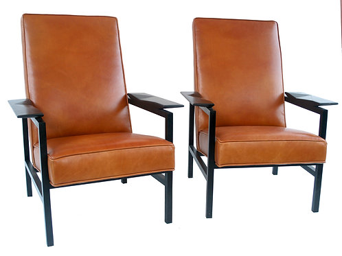 FRENCH MODERNIST ARMCHAIRS GUARICHE  MOTTE MORTIER model 642 by Steiner