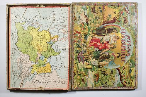Saussine Atlas puzzle set late 19th Century