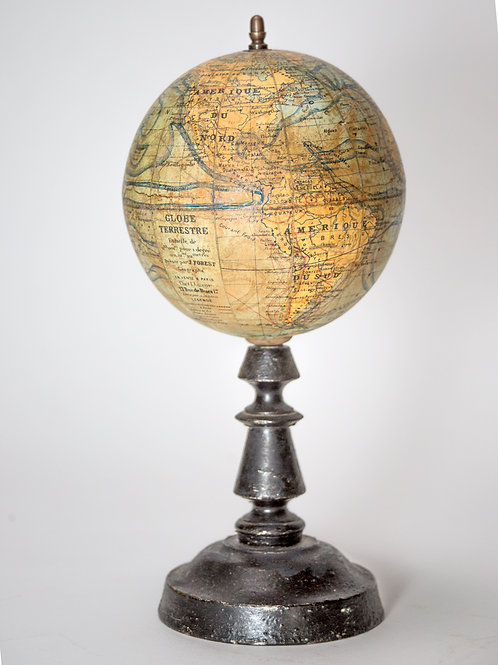 1914/18 Small FOREST  TERRESTRIAL GLOBE ANTIQUE 6 inches