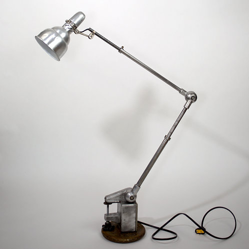 FRENCH INDUSTRIAL MODERNIST TASK LAMP LUMINA large reflector
