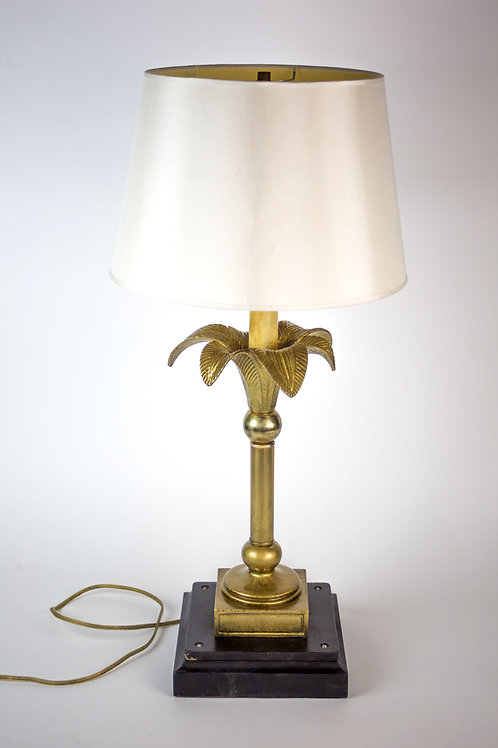 FRENCH MODERNIST Table lamp palm tree motive in the manner of Maison Jansen