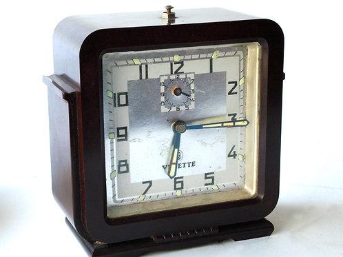 French Art Deco Bakelite desk alarm clock Vedette  Jazz