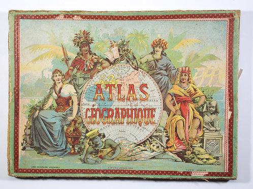 Charles Verneau A.W.G.L. ( WOGUE et LEVY ) Atlas puzzle set, late 19th Century