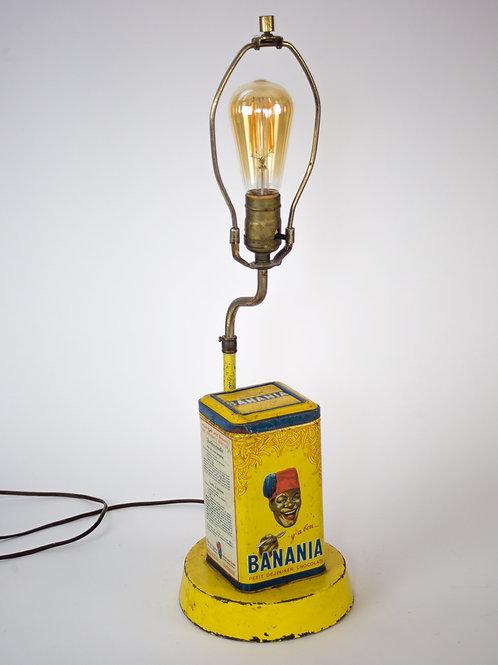 FRENCH art deco  Display advertisement  store lamp Banania