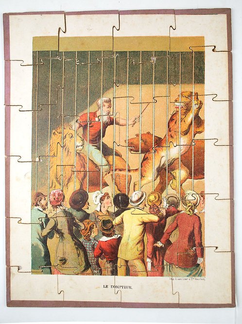 "FRENCH antique puzzle late 19th early 20th "" the circus """