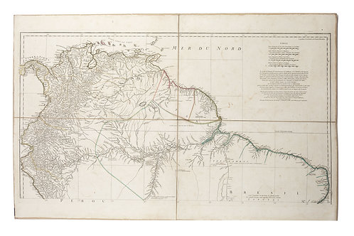 Large Antique French 1748 D'anville Map of South America in a set of 3