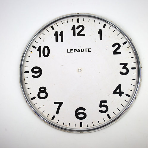 Early 20th factory clock face enameled