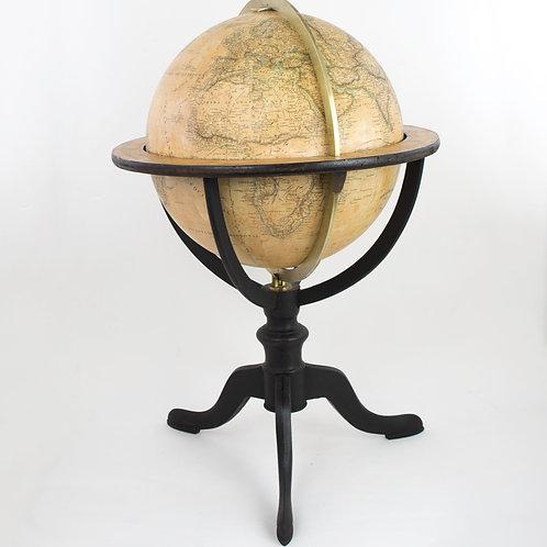 "1835 Delamarche French antique terrestrial globe 14 "" cooper engraving"