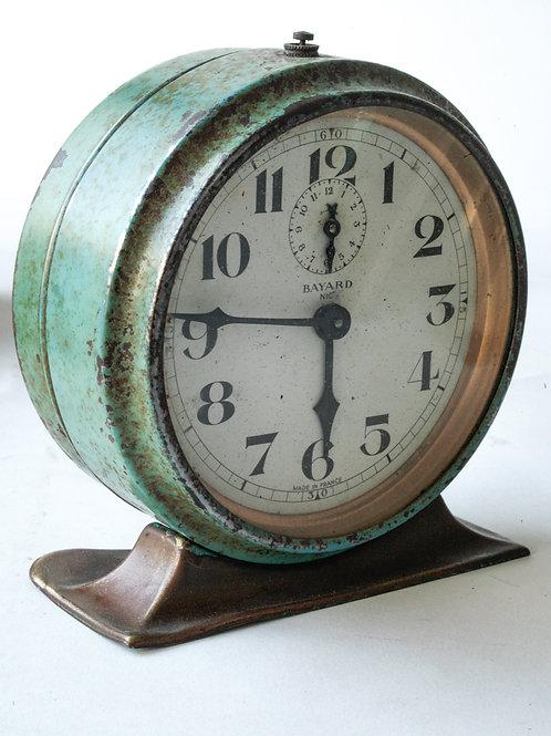 French art Deco alarm clock Bayard mechanical movement