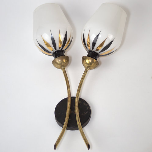 Single sconce Lunel Arlus French mid century