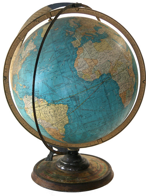 "Cram terrestrial globe  16"" daily Sun Ray and Season Indicator"