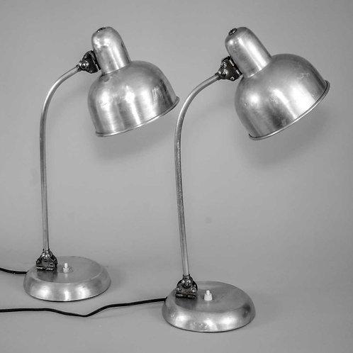 Pair of Bauhaus INDUSTRIAL DESK LAMP CHRISTIAN DELL KAISER