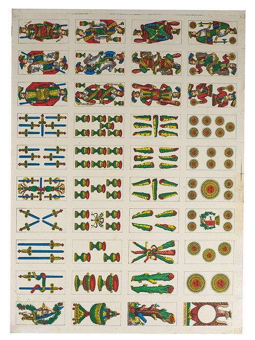 VINTAGE UNCUT ITALIAN Piacentine deck  PLAYING CARDS  PIGNALOSA NAPOLI