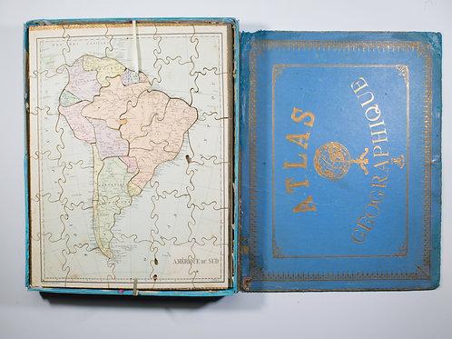 JJF  Jouet et Jeux Francais Atlas puzzle set 1904 Paris