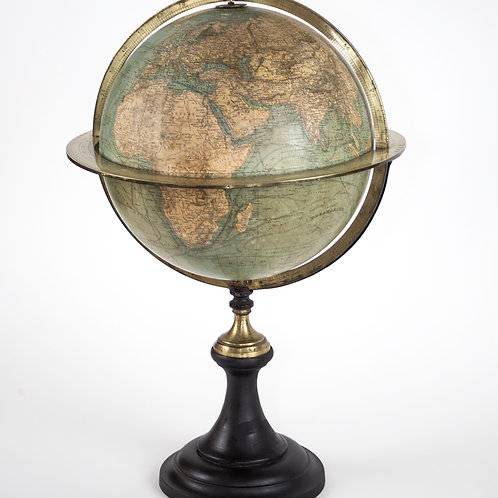 Antique 1870 Delamarche French large terrestrial globe