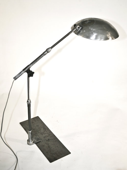 French modernist mid century industrial task lamp Solere with square base