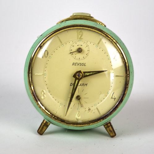 French green REVESOL  art deco alarm