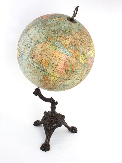 1880 antique terrestrial globe L'Institut géographiquenational de Bruxelles 14