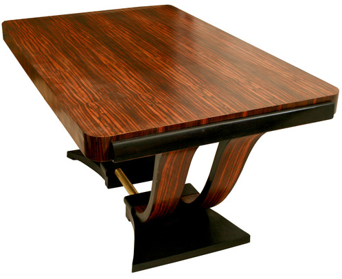 Made In France The 1920s Or 1930s This Dining Room Table Is Built With A Macassar Top Brazilian Rosewood Base Ebonized Maple Meaning