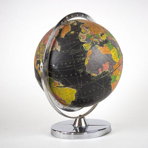 "Black sea mid century Replogle 12 "" terrestrial globe"